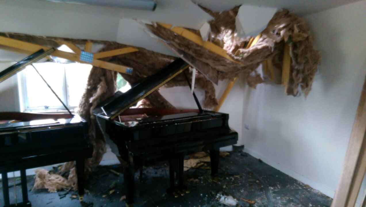 A tree almost destroyed a £10,000 piano