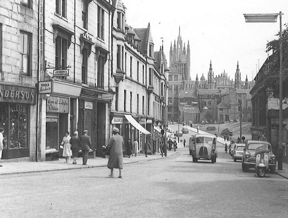 A view of Marischal College from the 1960s