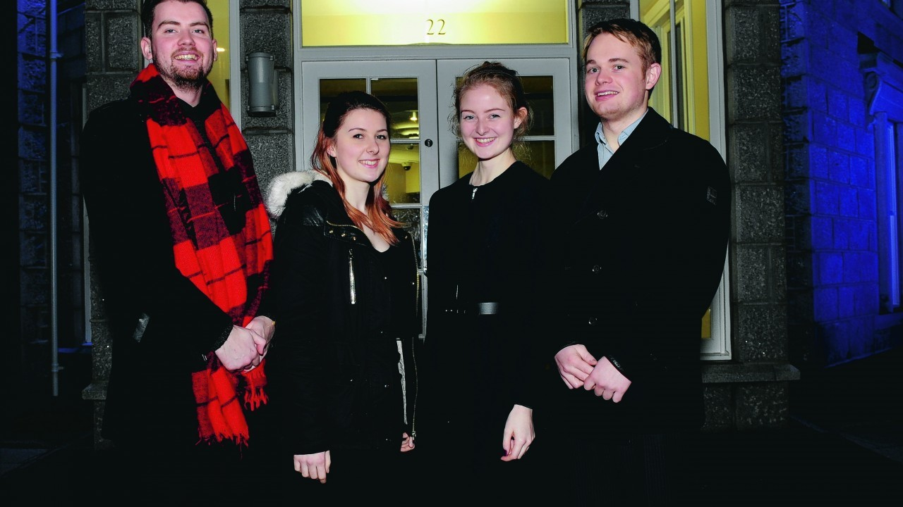 Kyle Yeats, Stacey Stephen, Laura Mackell and Fraser Hill.
