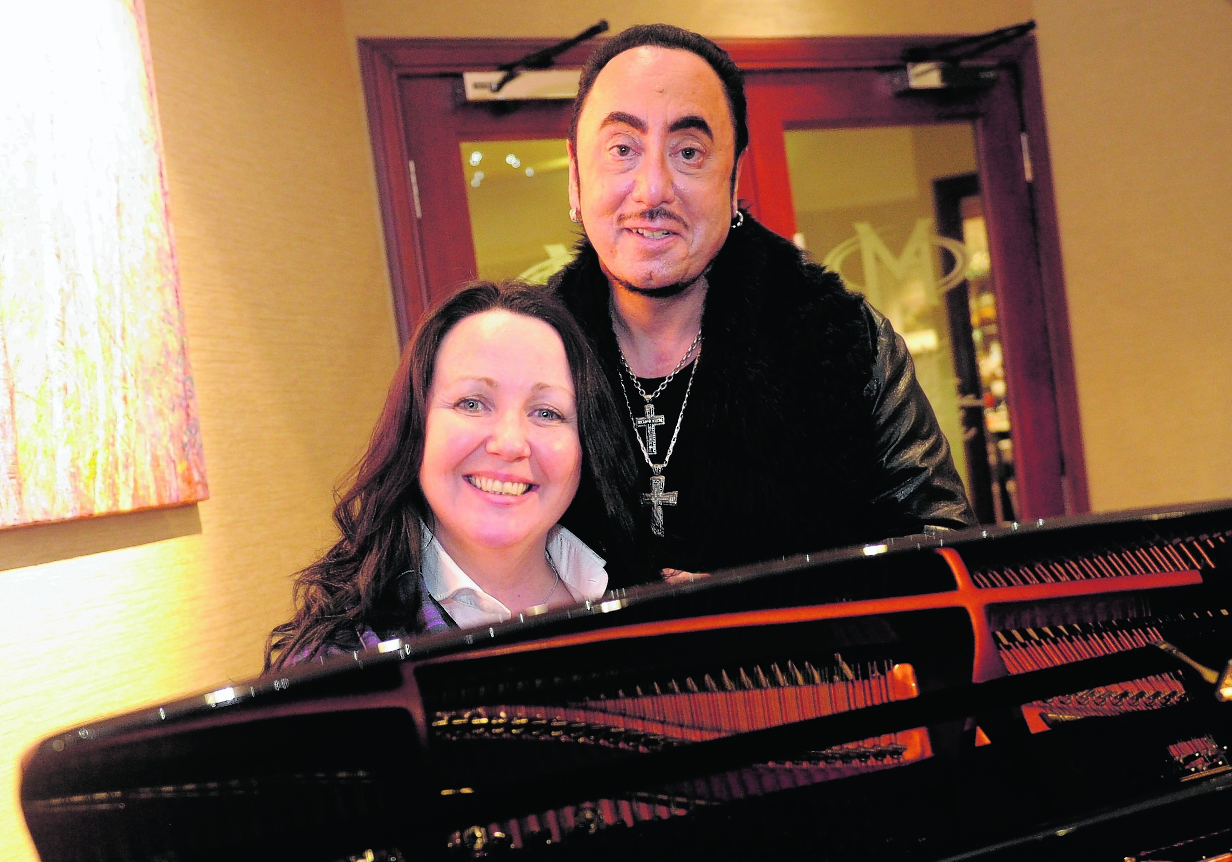 Tish Tindall and David Gest working on Robert Burns the Musical. Picture by David Whittaker-Smith