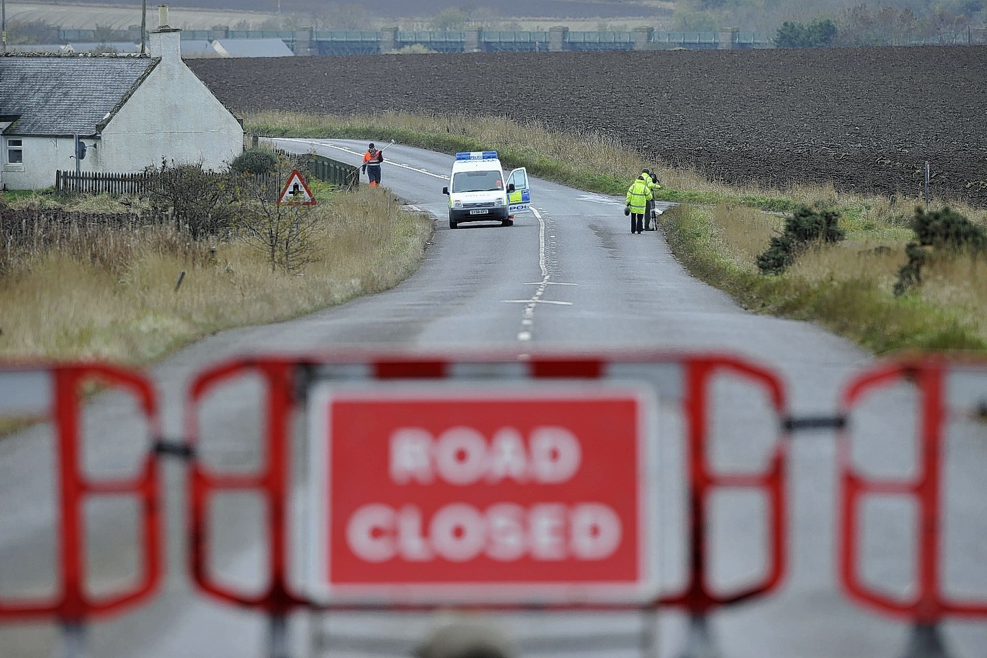 The Scene of the A937 crash
