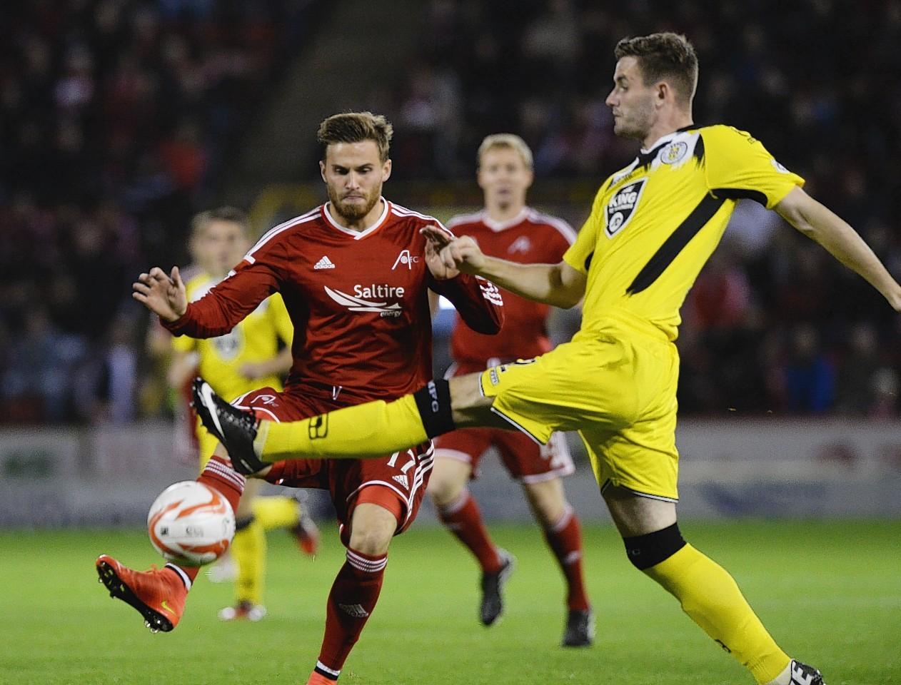 David Goodwillie in action against St Mirren earlier this season