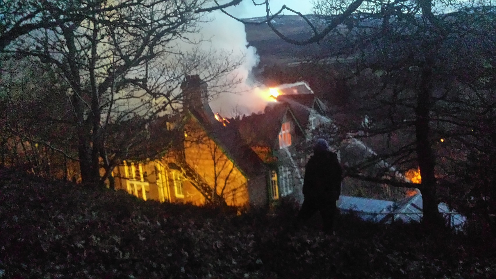 Pictures show the fire burning through the Darroch Learg Hotel in Ballater