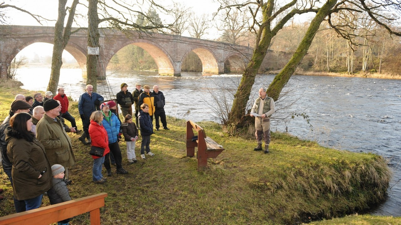 The angling season kicks off at the River Beauly yesterday.