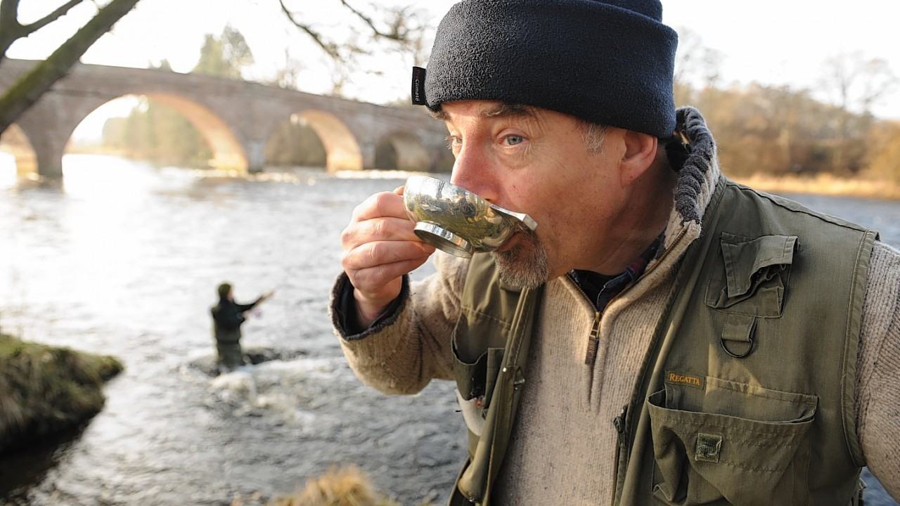 The angling season kicks off at the River Beauly yesterday. Pictured: Beauly Angling Club president, Paul pacey