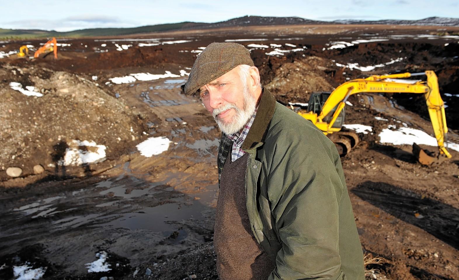 Brian MacGregor at the Moy peat bog