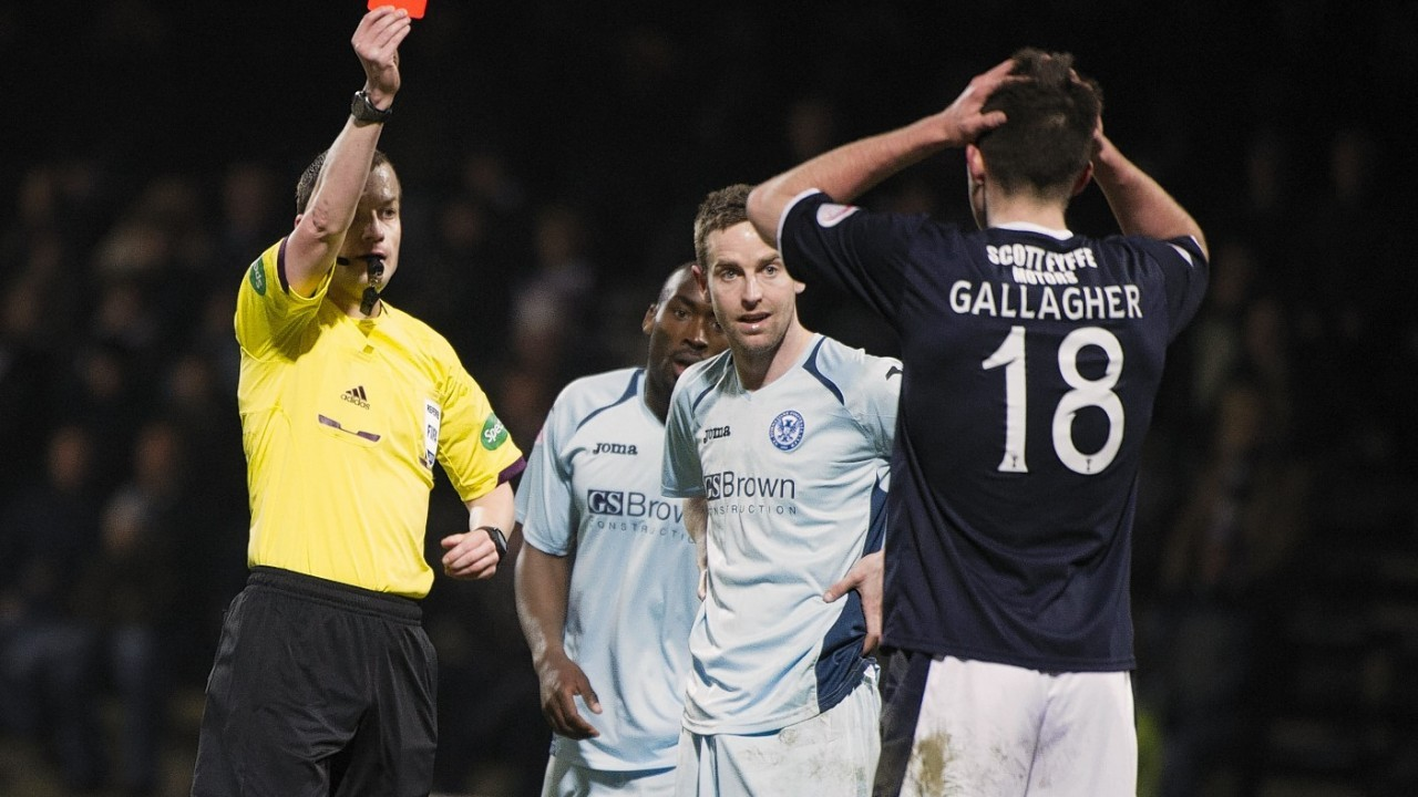 But let's not stop there, here Declan Gallagher is given his marching orders