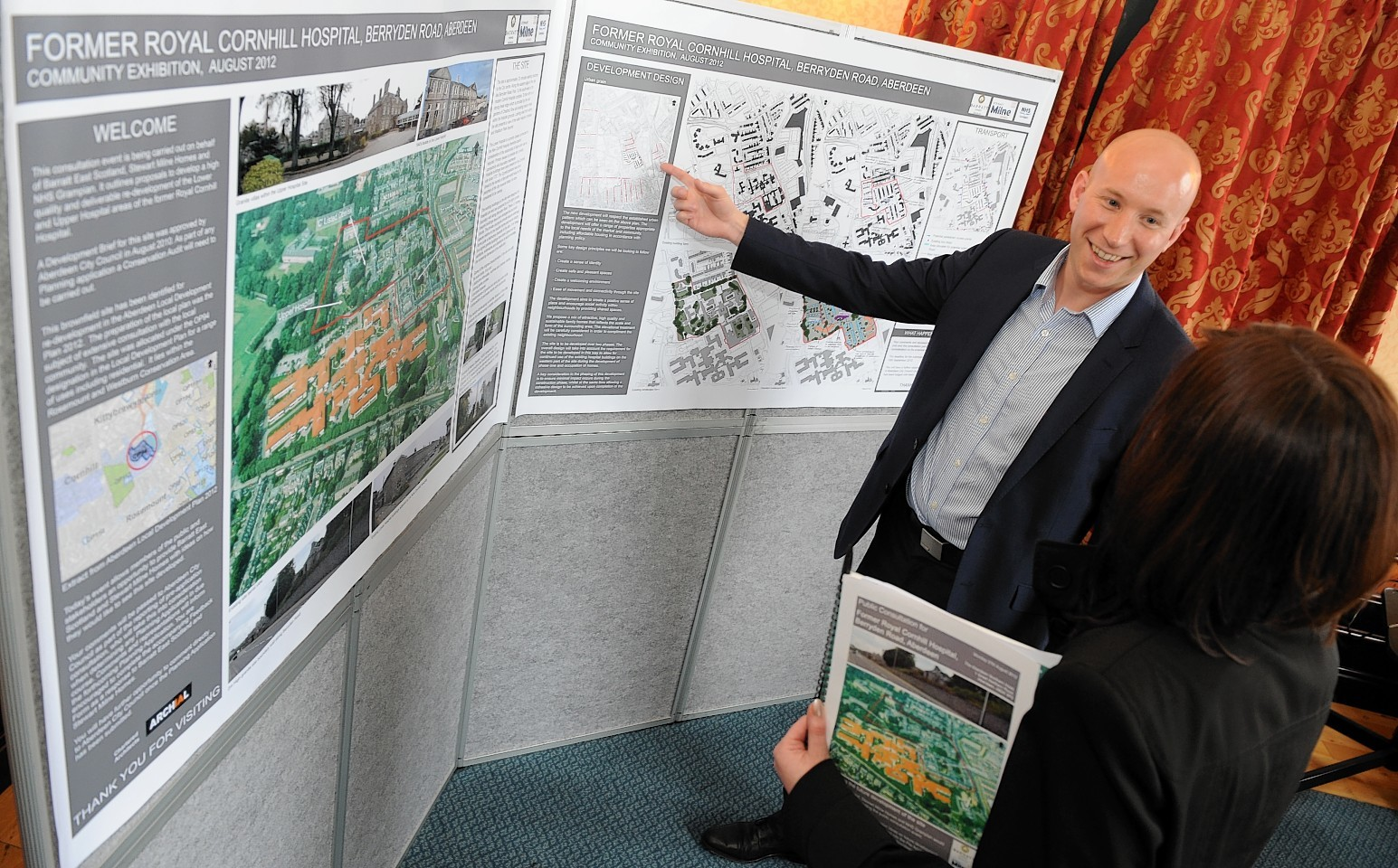 A picture from the former Cornhill Hospital  site's public consultation in 2012