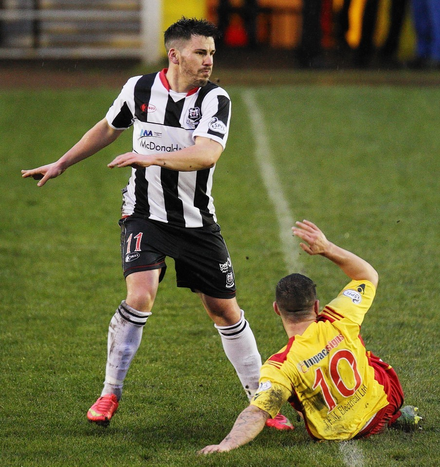 Moore up against Rovers earlier this season