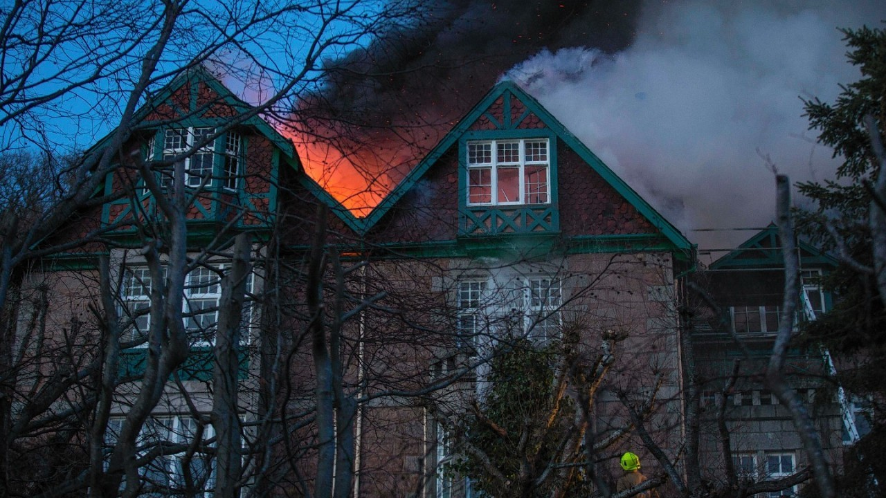 Over 50 firefighters spent six hours tackling the blaze