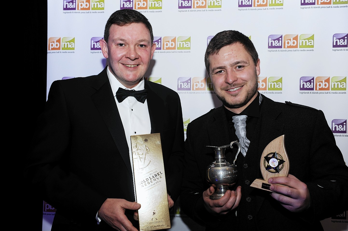 David Kerr won young journalist of the year at the awards