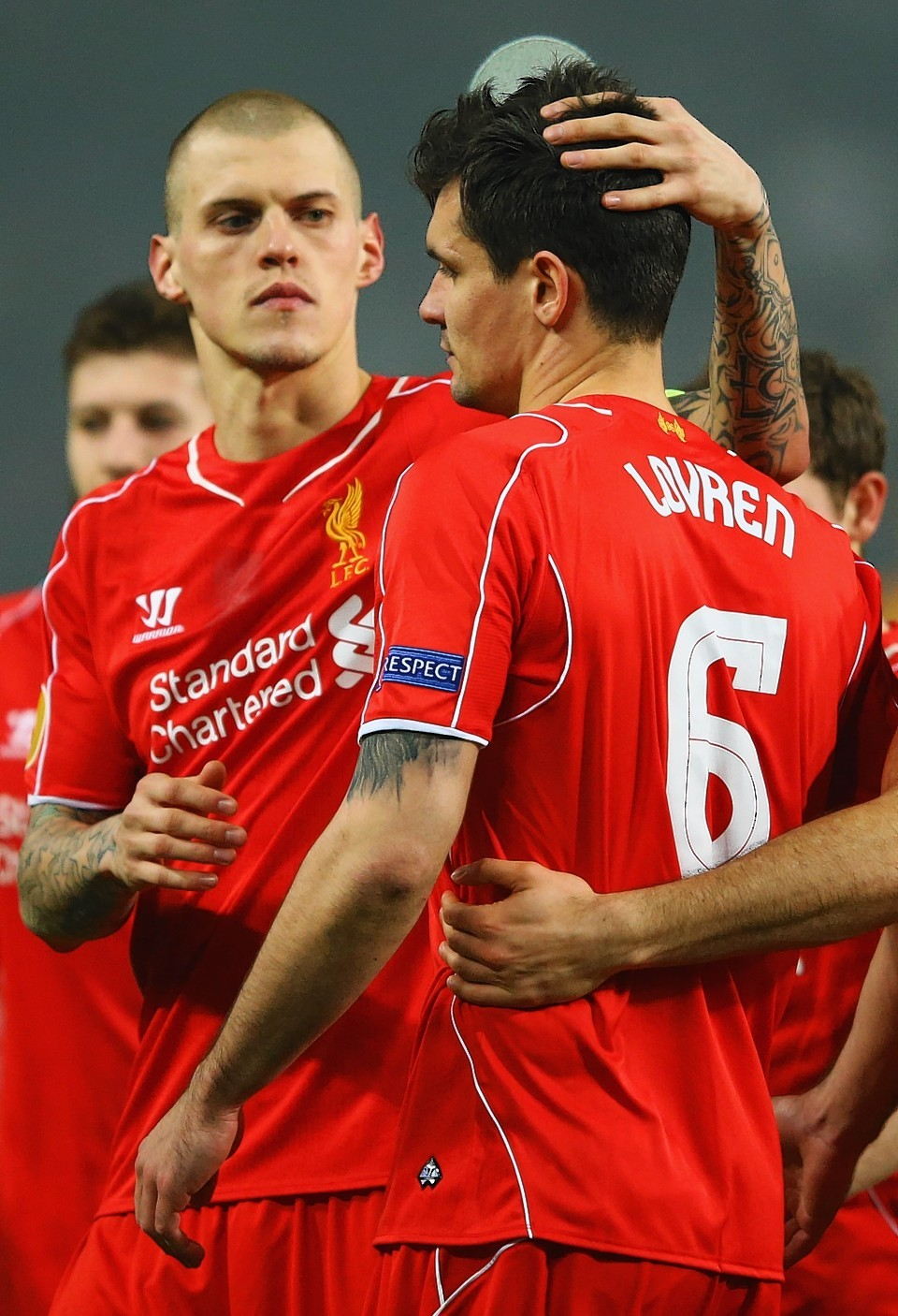 Rather than swotting up Celtic, Daniels watched on as Dejan Lovren missed his penalty to send Liverpool out of the Europa League