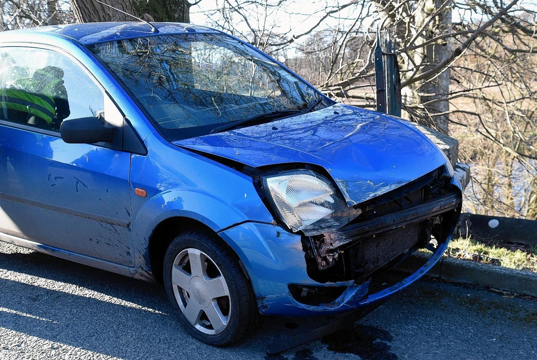 The car crash on the Deveron Bridge near Turriff