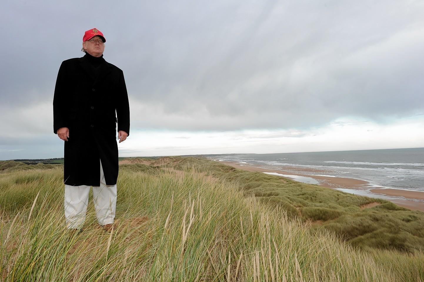 Donald Tump on the Menie Estate