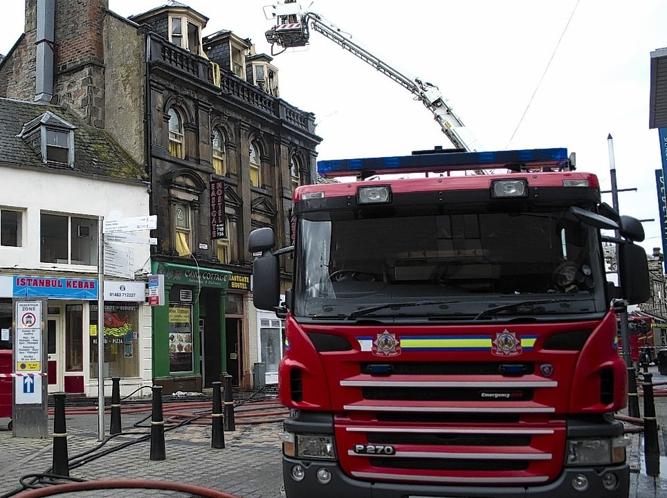 The Eastgate Hostel went on fire in April 2013