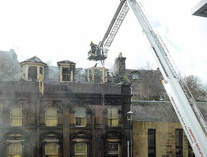 The Eastgate Hostel went on fire in April 2013.