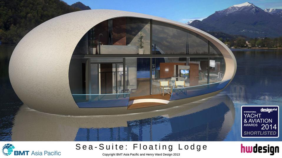 Henry Ward, of Banchory, has designed the  floating lodges.