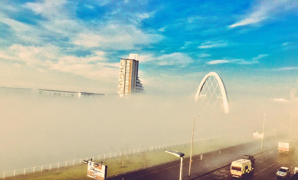 The fog in Glasgow gave people the chance to capture some beautiful pictures