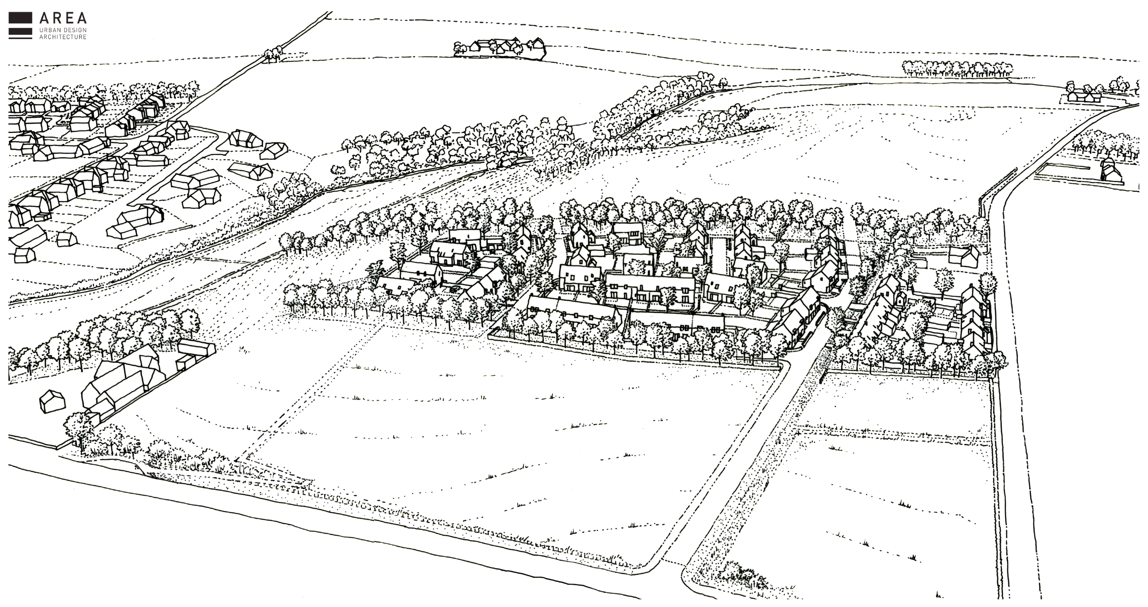 Artist impression of how the 50 homes at Foveran could look