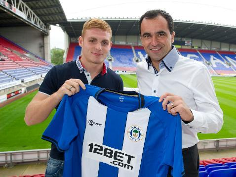 Fraser Fyvie signed for then Wigan boss Roberto Martinez was today released