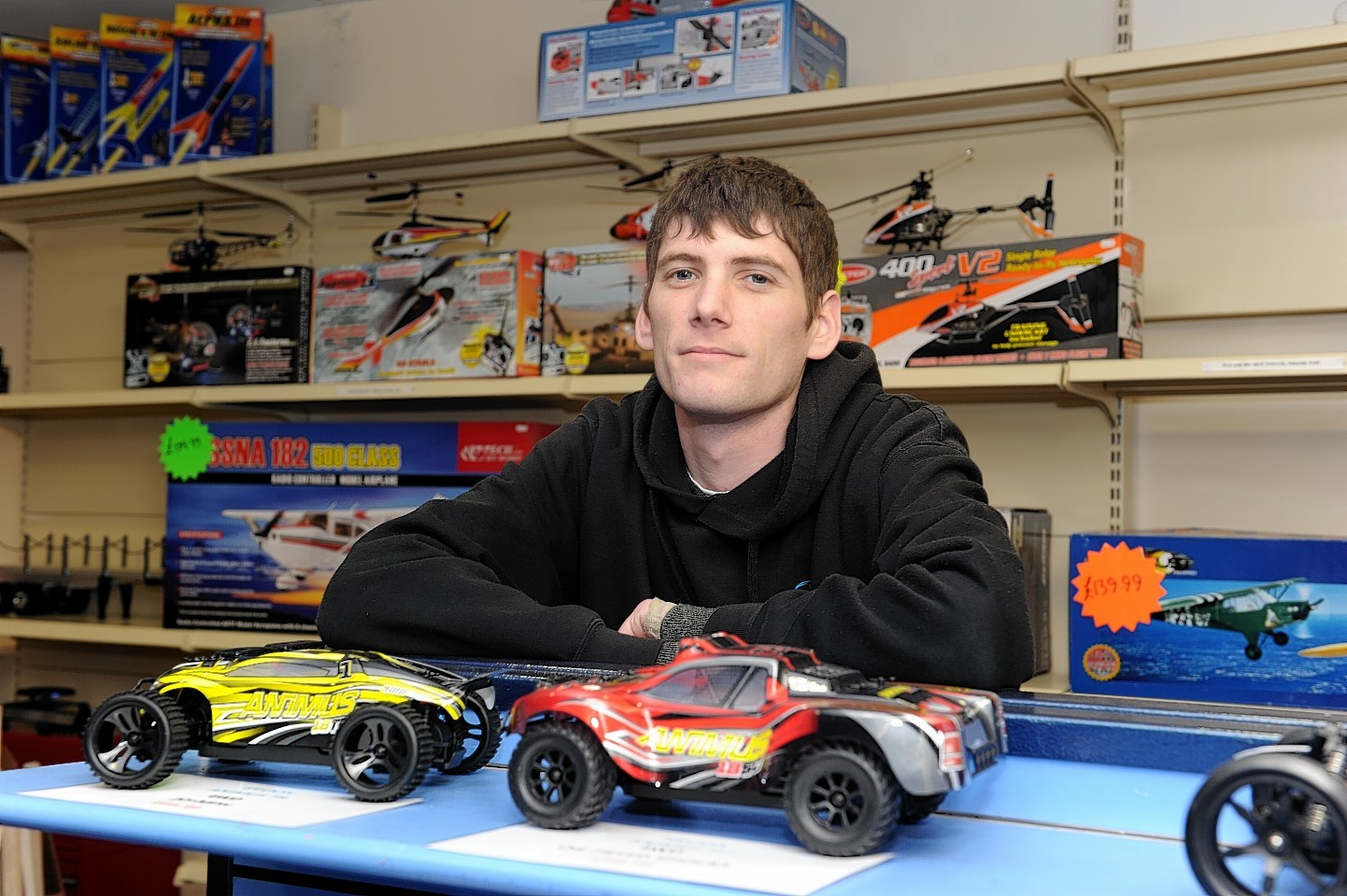 Craig MacDonald, owner of the Inverness Model Shop in the Victorian Market