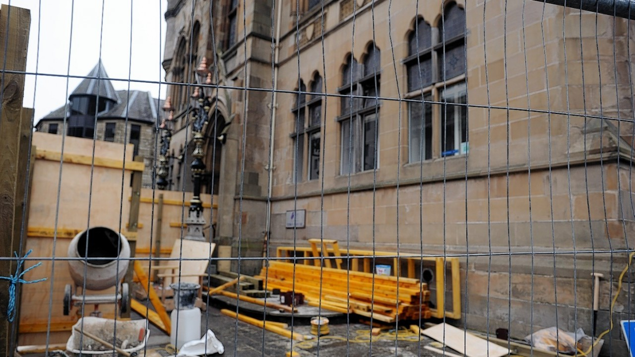 The first phase of work on Inverness Town House will cost £1.2million and will see the building covered in scaffolding