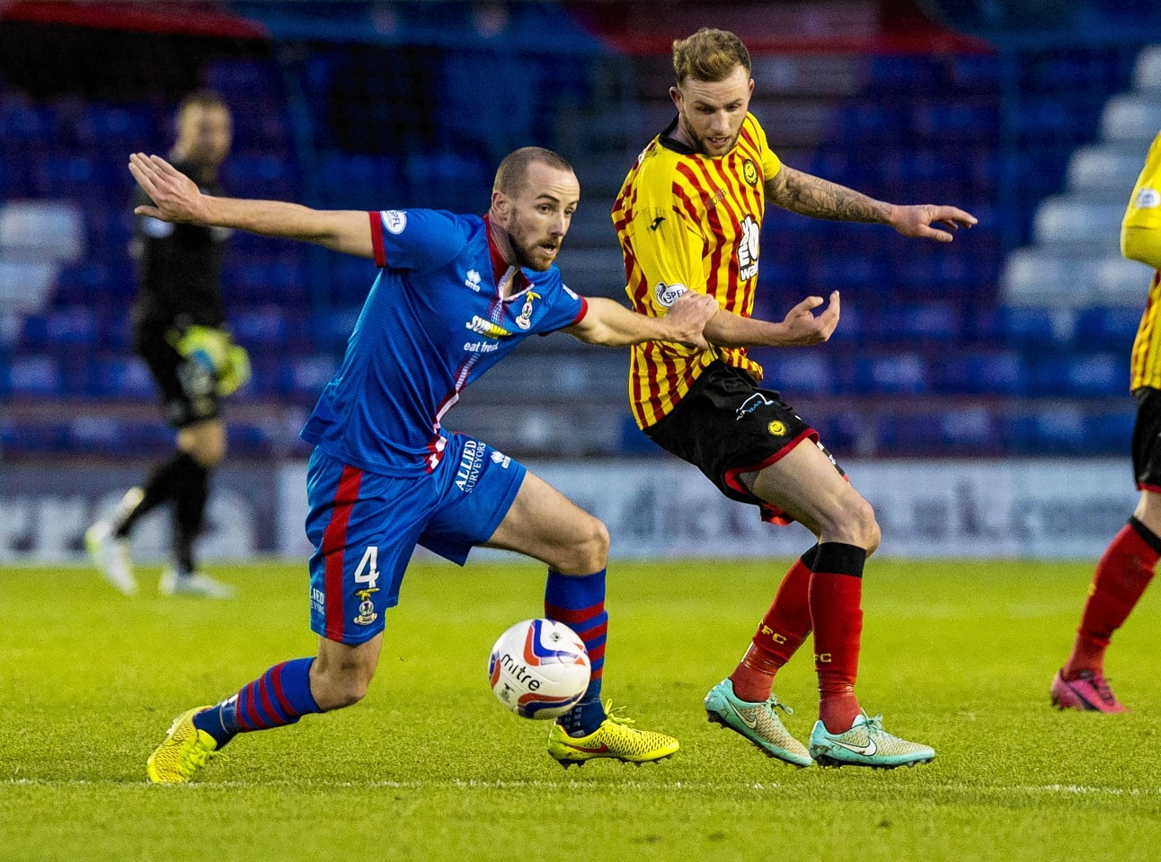 James Vincent returned to the Caley Thistle midfield