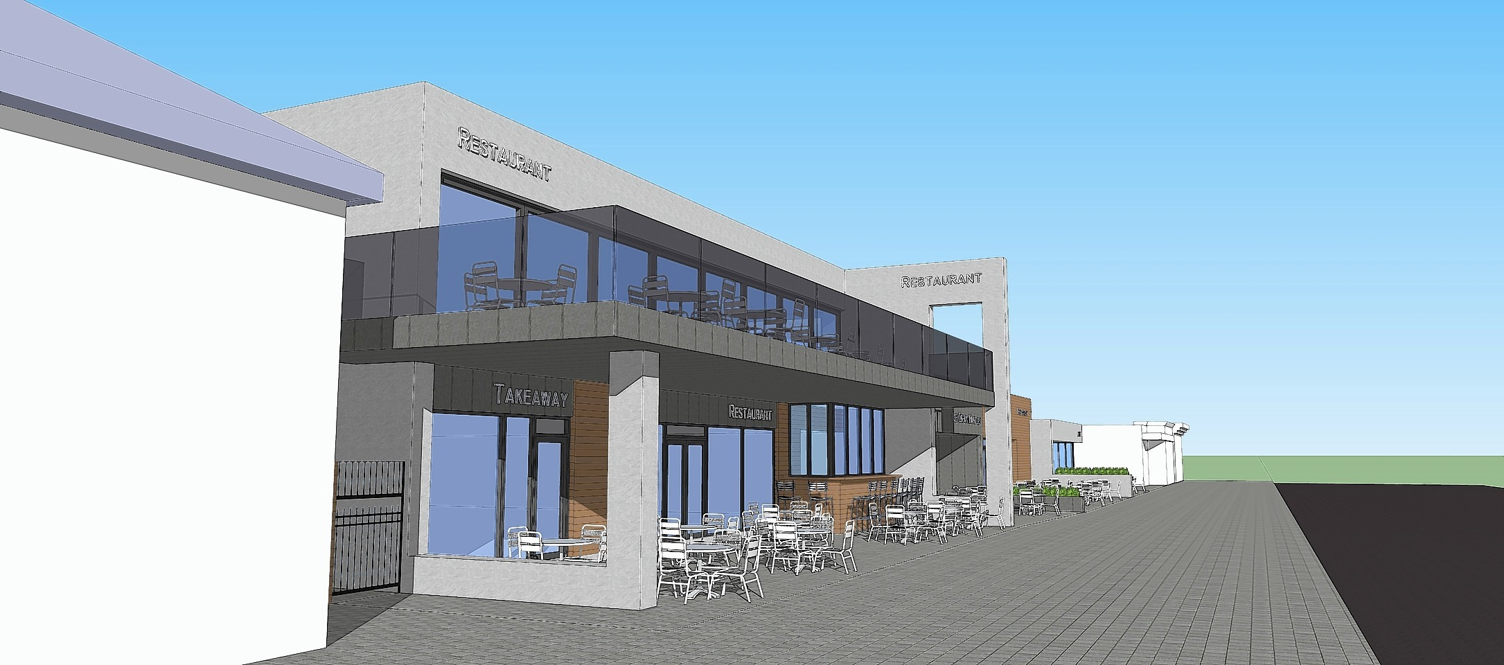 Artists impressions of how the Hornblowers restaurant could have looked