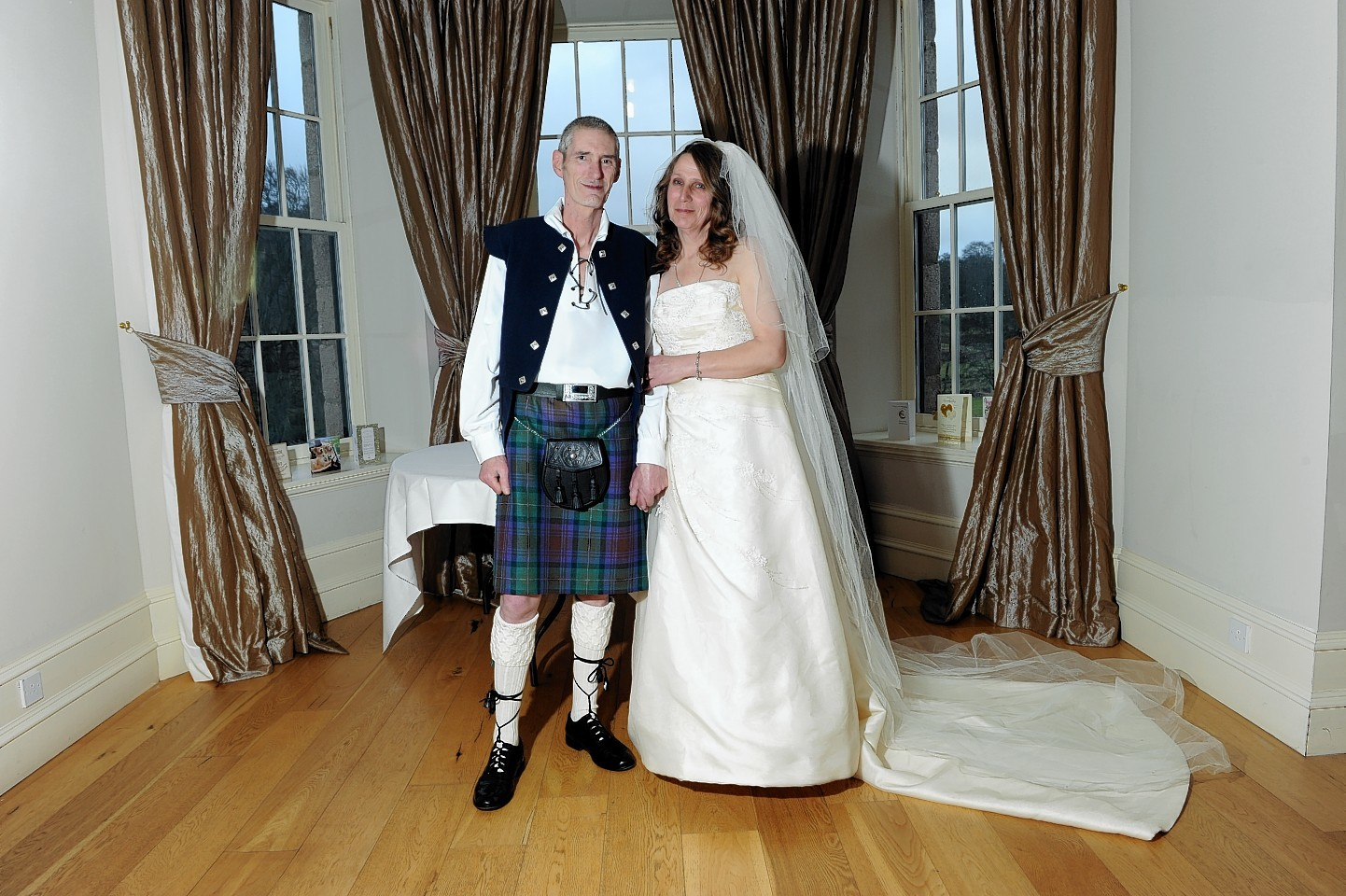Keith and Pauline on their wedding day