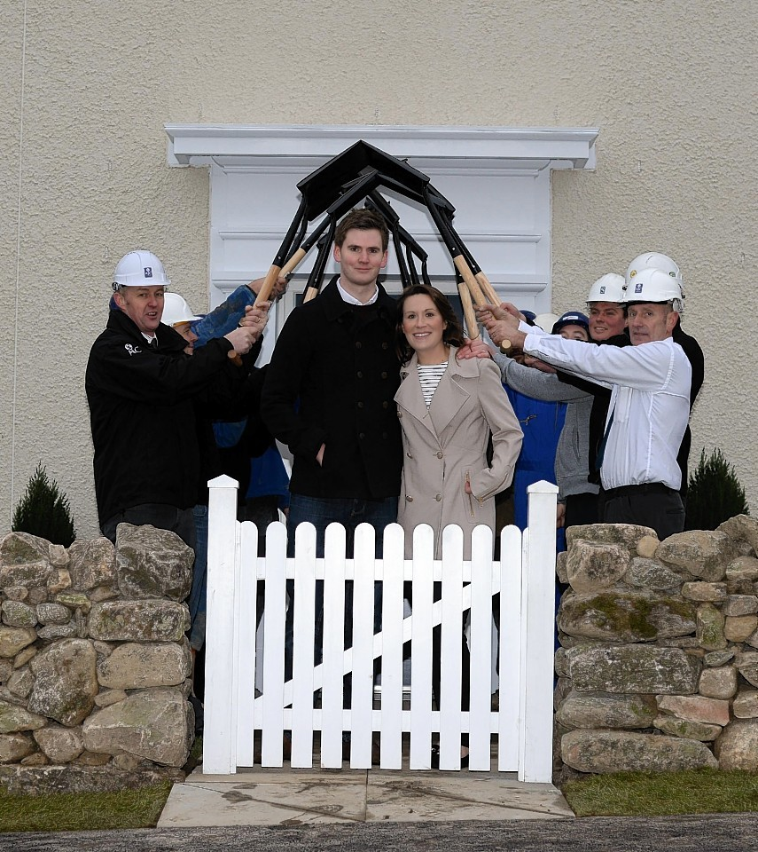 Kelly and Liam Syme move into their new home
