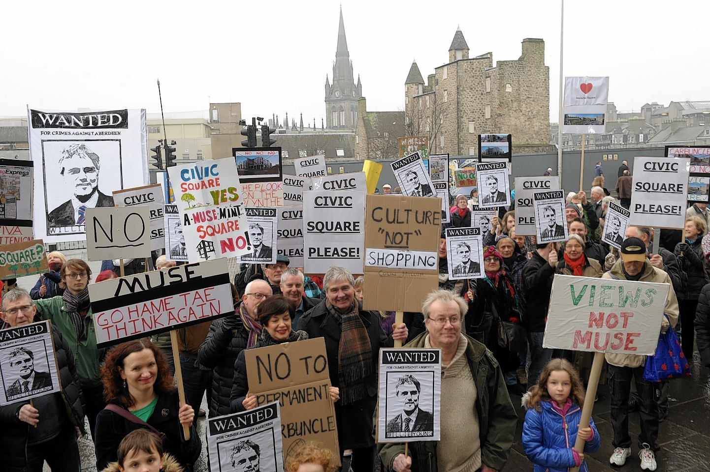 Protesters are demanding the current proposals are scrapped