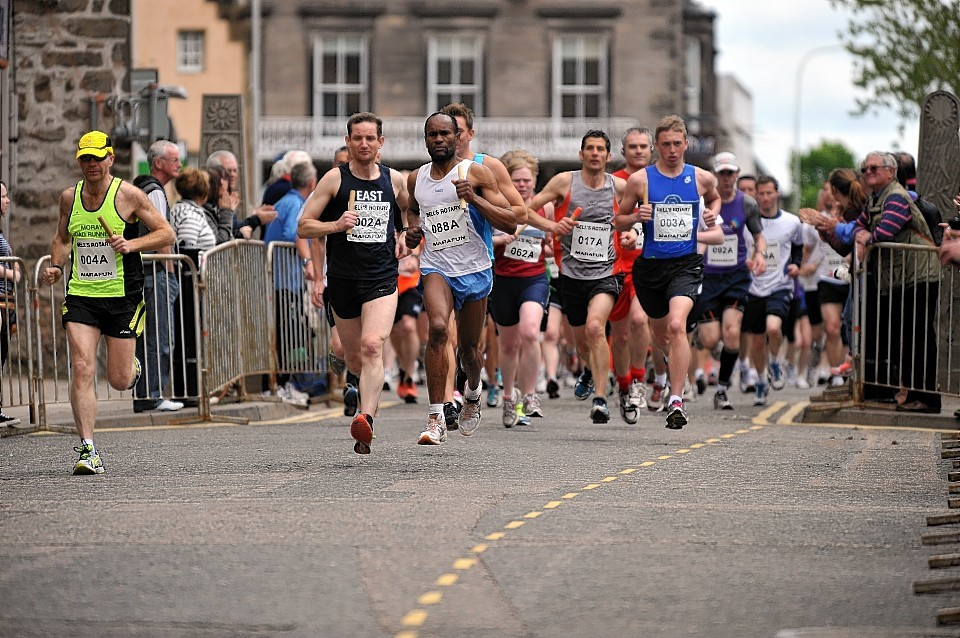 Hundreds of runners turned out for the Elgin Marafun