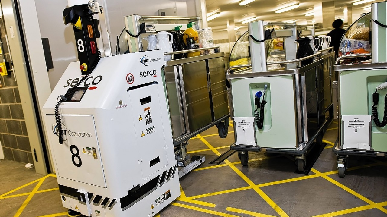 Over 80 robots, many like these, are now in use in hospitals across Scotland