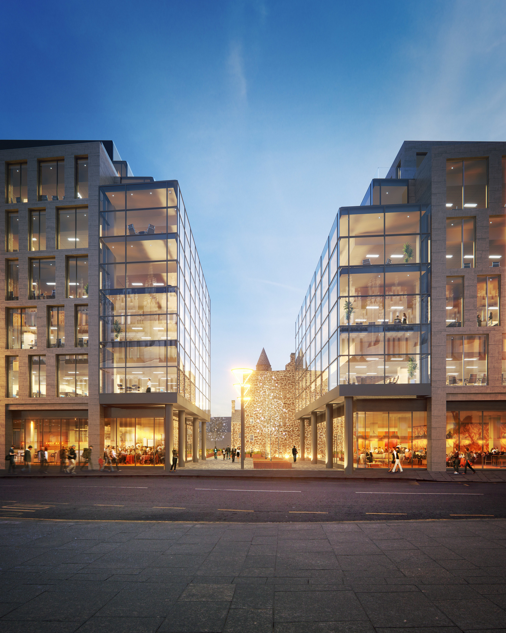 The latest picture of the planned Marischal Square development