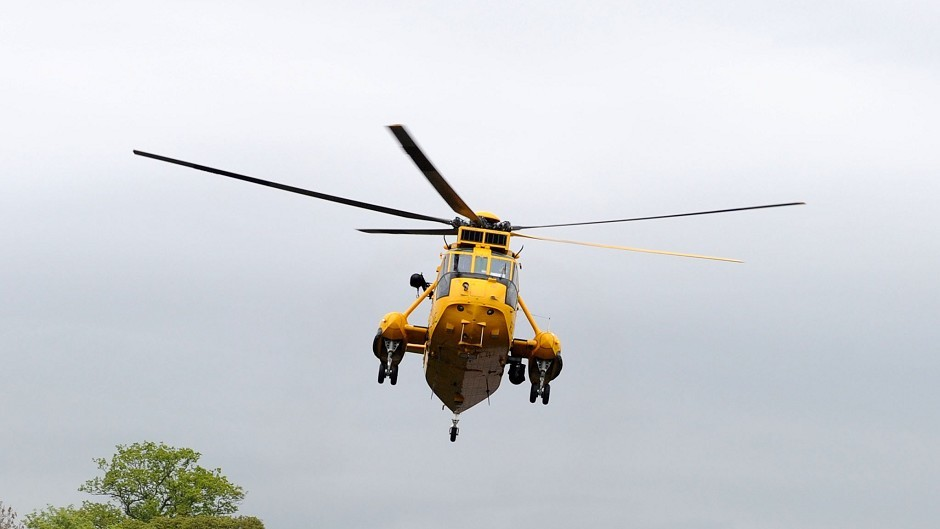 A search and rescue helicopter
