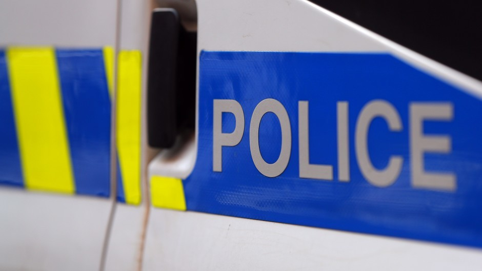 The A947 is blocked in both directions