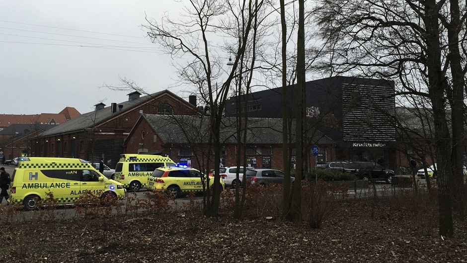 One man is dead and three policemen were wounded in a shooting at a freedom of speech event in Copenhagen, Denmark (AP Photo/Polfoto, Mikkel Tariq Khan) DENMARK OUT