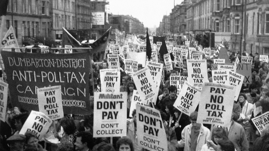 The controversial poll tax was introduced by Margaret Thatcher's government