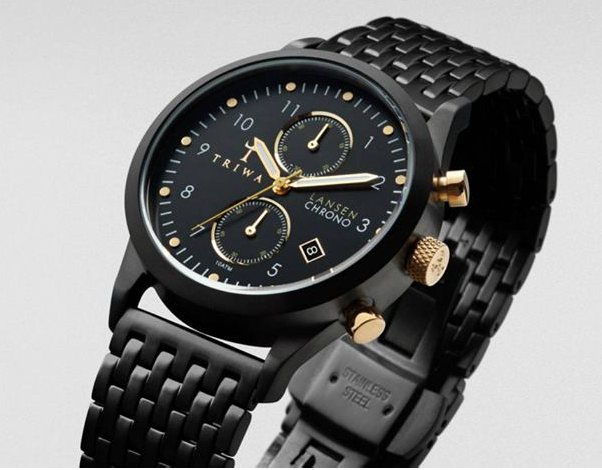 A Triwa Lansen Chrono brand watch like the one which was stolen from Peltoniemi Concept Store, on Chatton Place
