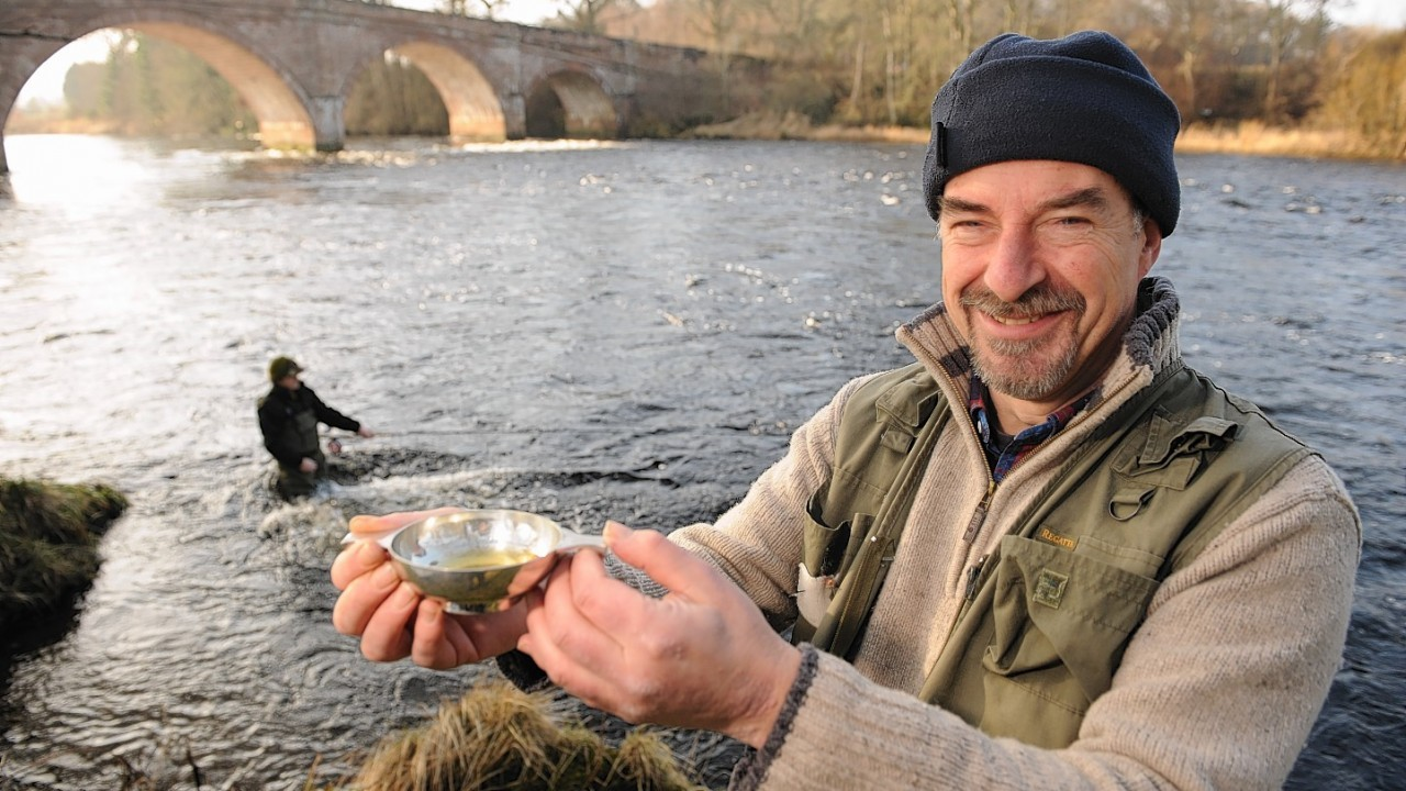 Paul Pacey on the opening day of the River Beauly