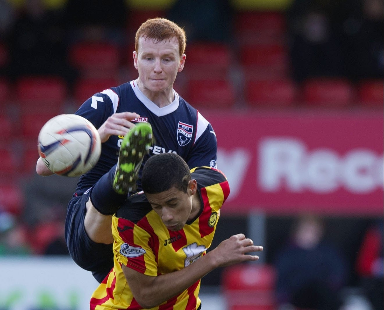 Ross County defender Scott Boyd will lock horns with Partick Thistle striker Lyle Taylor again tomorrow