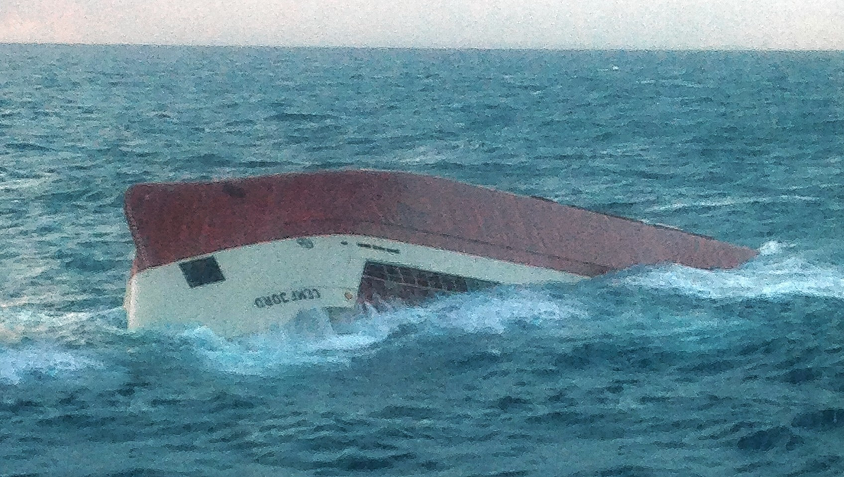 The eight crew are all presumed dead and may still be on board the boat