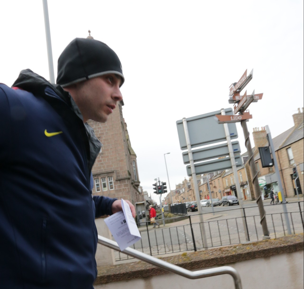 Kestutis Jaraminas leaves court after being fined £300.
