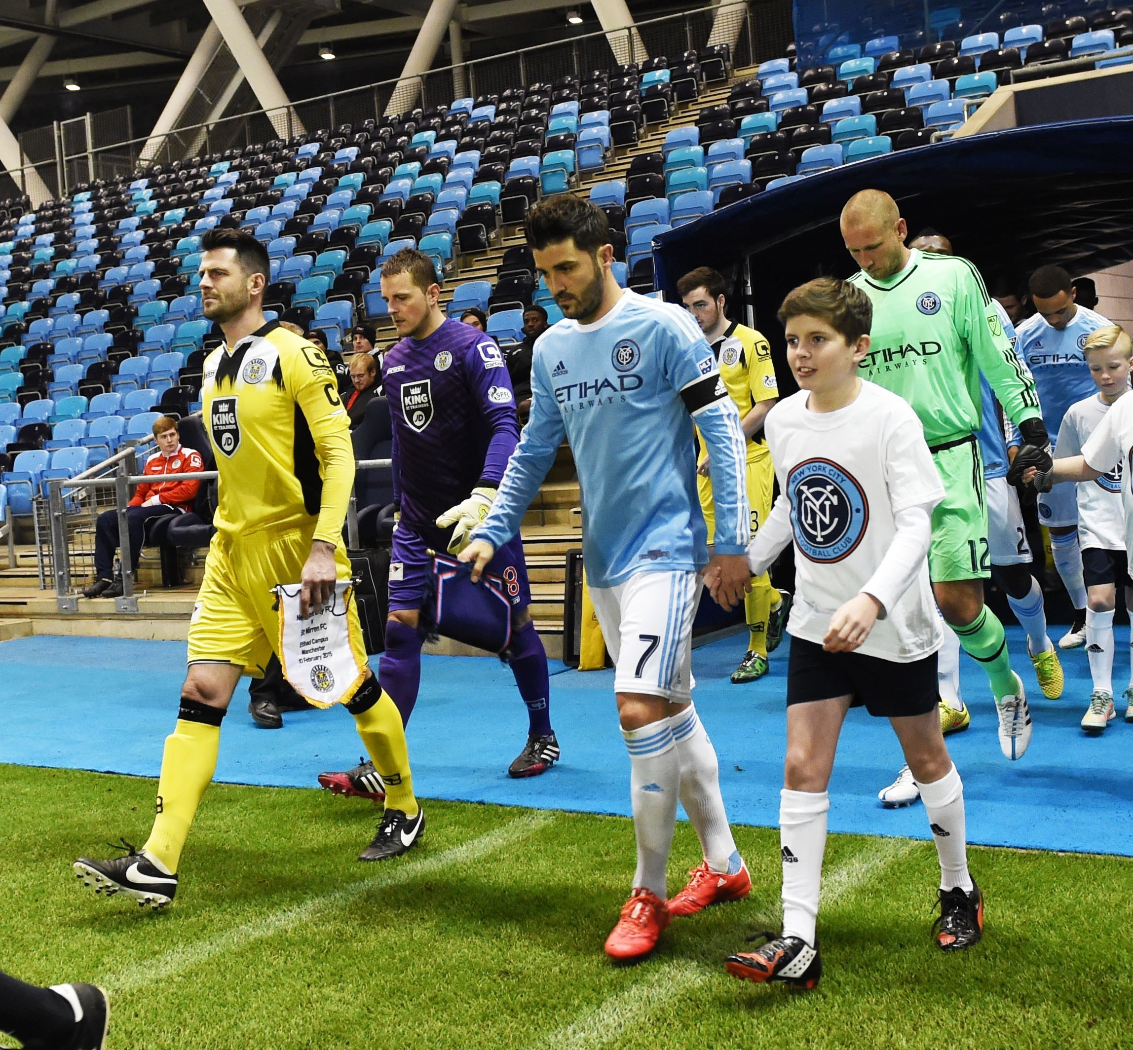 Thompson and Villa lead the teams out