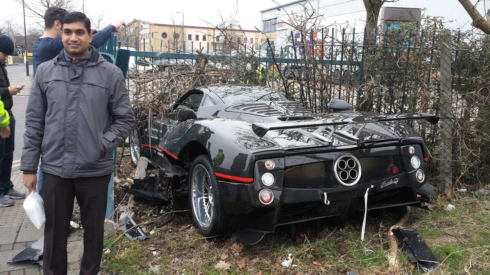 The supercar crashed in London