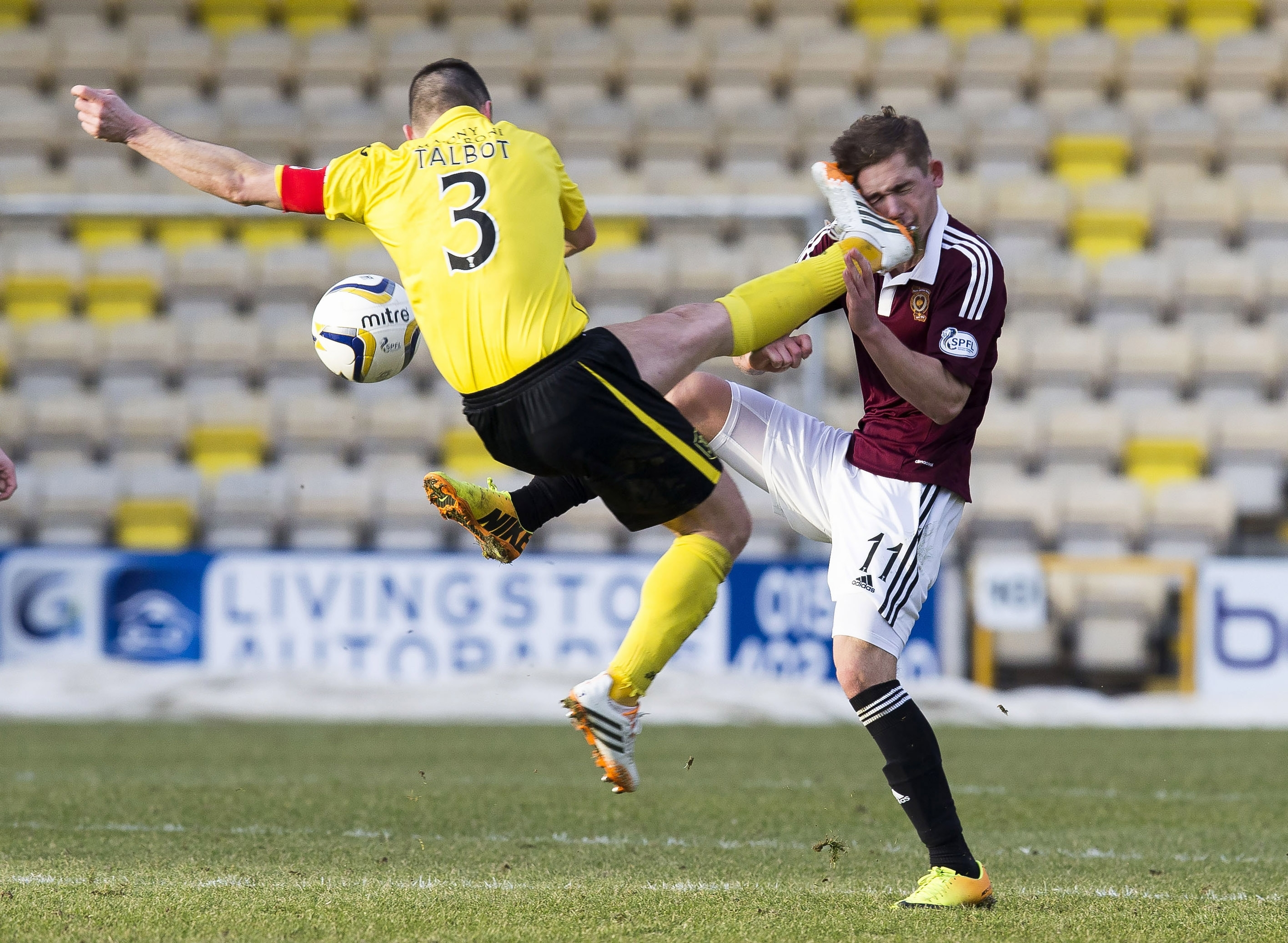 Talbot was only booked for this challenge on Saturday