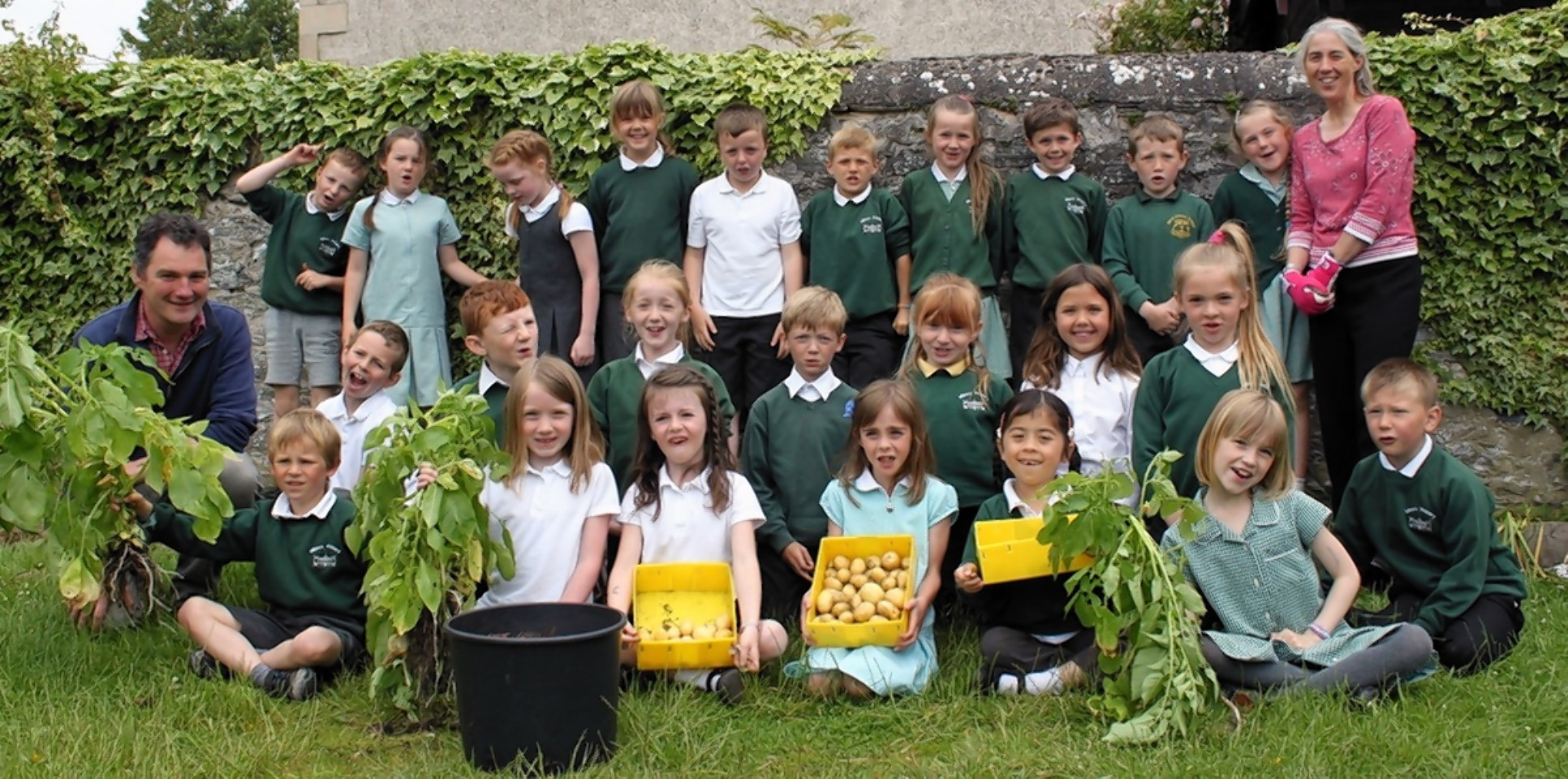 Pupils present their Totally Tattie Project