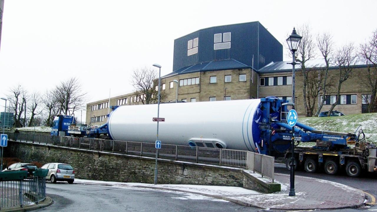 The turbine is taken through Wick