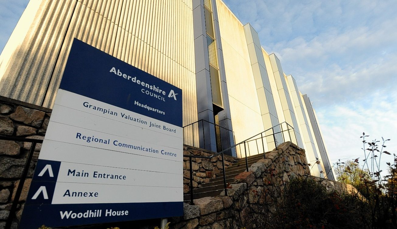 The Woodhill House headquarters of Aberdeenshire Council