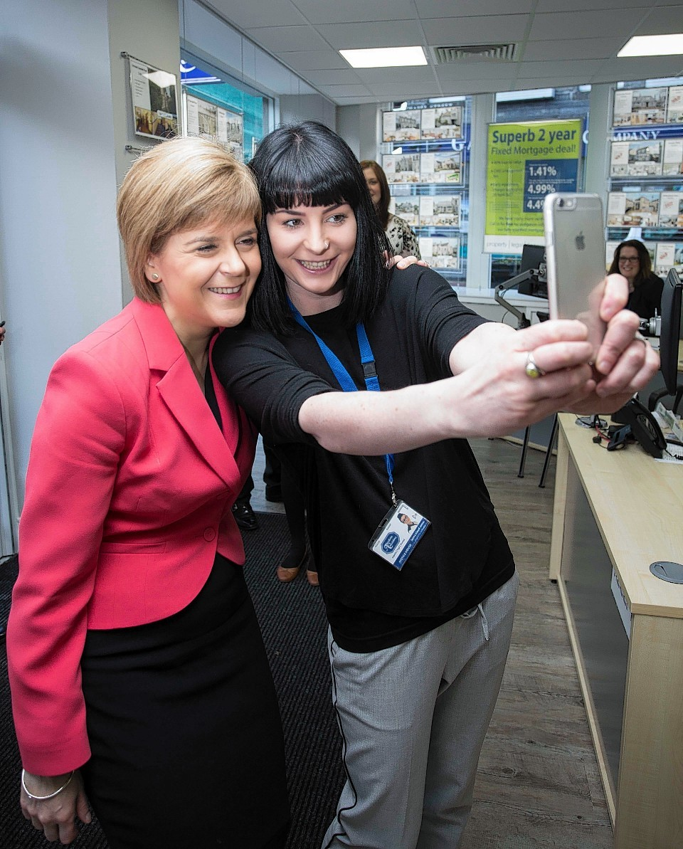 Nicola Sturgeon opens the new Aberdein Considine office